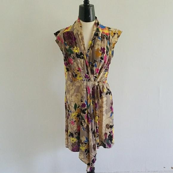 Anthropologie Dresses & Skirts - ANTHRO {PINKERTON} silk floral rinzu dress